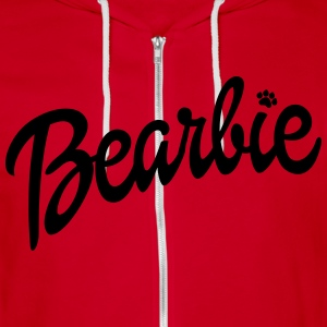 Men's Bearbie Zip-Up Hoodie - Unisex Fleece Zip Hoodie by American Apparel