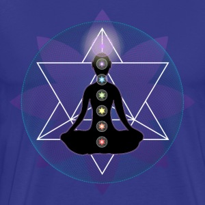 Meditate Yoga Chakras And Lotus T-Shirts - Men's Premium T-Shirt