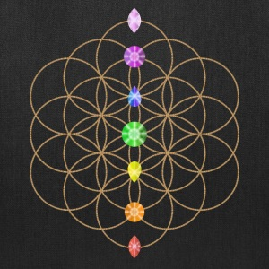 Flower Of Life With Chakra Stones Bags & backpacks - Tote Bag
