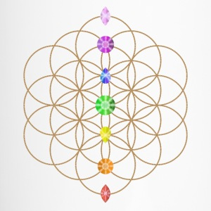 Flower Of Life With Chakra Stones Bottles & Mugs - Travel Mug