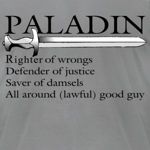Paladin in Black - Men's T-Shirt by American Apparel