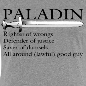 Paladin in Black - Women's Premium T-Shirt