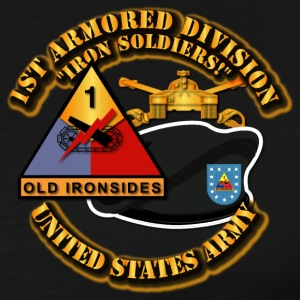 The 1st Armored Division—nicknamed Old Ironsid - Men's Premium T-Shirt