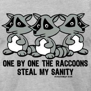 One By One The Raccoons Humor - Men's T-Shirt by American Apparel