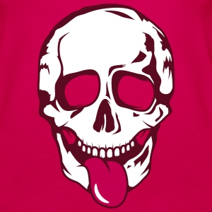 A skull stretched tongue out  Tanks - Women's Premium Tank Top