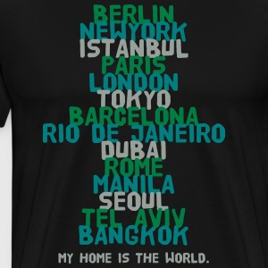 Berlin New York Istanbul Paris London Tokyo T-Shirts - Men's Premium T-Shirt