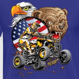 Motocross ATV USA T-Shirts - Men's Premium T-Shirt