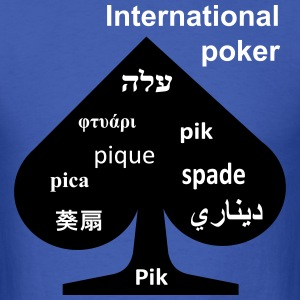 International poker spade T-Shirts - Men's T-Shirt