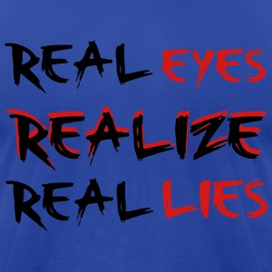 Real Lies T-Shirts - Men's T-Shirt by American Apparel