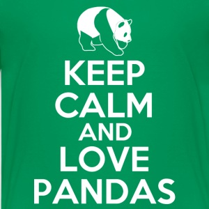 keep_calm_and_love_pandas Kids' Shirts - Kids' Premium T-Shirt