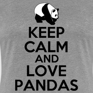 keep_calm_and_love_pandas Women's T-Shirts - Women's Premium T-Shirt