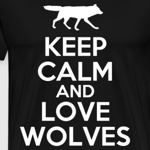 keep_calm_and_love_wolves T-Shirts - Men's Premium T-Shirt