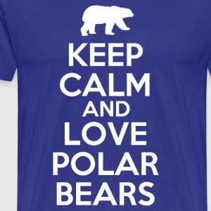 keep_calm_and_love_polar_bears T-Shirts - Men's Premium T-Shirt