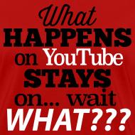 Design ~ What Happens on YouTube Women's Shirt