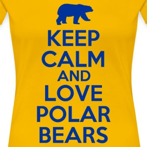 keep_calm_and_love_polar_bears Women's T-Shirts - Women's Premium T-Shirt
