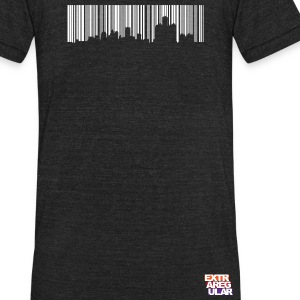 Detroit Skyline Barcode - Unisex Tri-Blend T-Shirt by American Apparel
