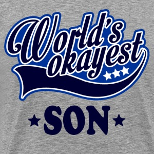 worlds_okayest_son T-Shirts - Men's Premium T-Shirt