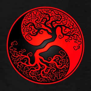 Red and Black Tree of Life Yin Yang Kids' Shirts - Kids' T-Shirt