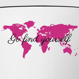Go Find Yourself - Travel The World! Bottles & Mugs - Contrast Coffee Mug