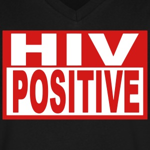 HIV POSITIVE - Men's V-Neck T-Shirt by Canvas