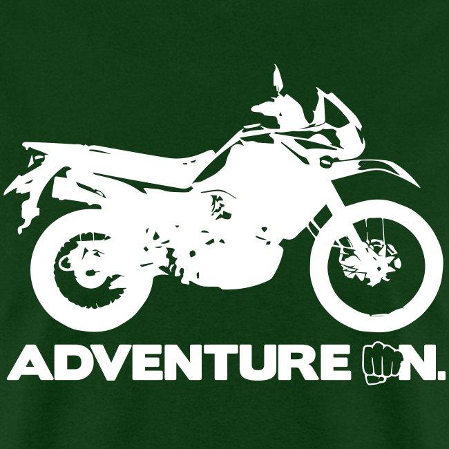 """Trusty Adventure On"" - White Logo"