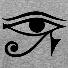 EYE of Horus/ Ra, reverse moon eye of Thoth/ Zip Hoodies/Jackets