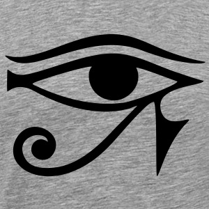 EYE of Horus/ Ra, reverse moon eye of Thoth/ Zip H - Men's Premium T-Shirt
