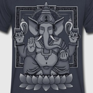 Ganesha Distressed T-Shirts - Men's V-Neck T-Shirt by Canvas