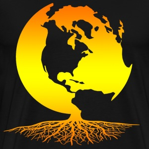 Mother Earth Globe with Roots - Men's Premium T-Shirt