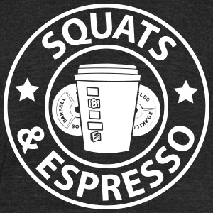 Squats and Espresso Logo Tri-Blend Tee Unisex - Unisex Tri-Blend T-Shirt by American Apparel