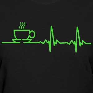 Morning Coffee Heartbeat EKG Women's T-Shirts - Women's T-Shirt