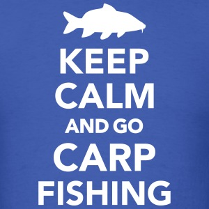 Keep calm and Carp Fishing T-Shirts - Men's T-Shirt