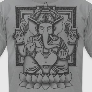 Ganesha Distressed Black T-Shirts - Men's T-Shirt by American Apparel