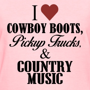 I love cowboy boots t shit - Women's T-Shirt