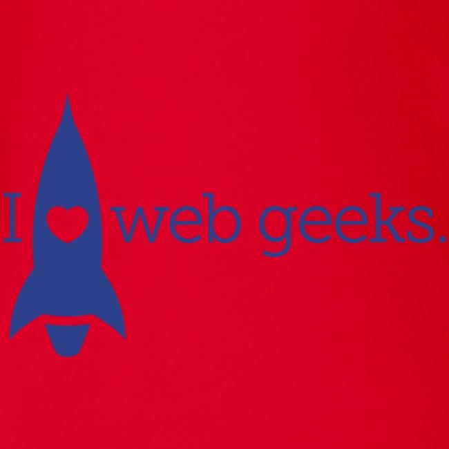 I Heart Web Geeks Baby Short Sleeve One Piece