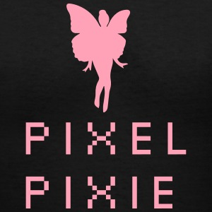 Pixel Pixie Geek Girl - Women's V-Neck T-Shirt