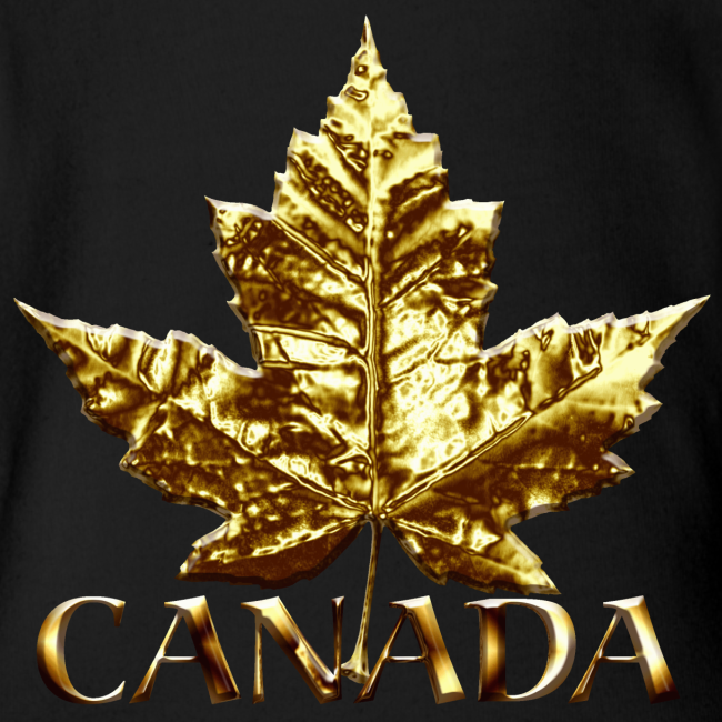 Baby Canada Romper Baby Toddler Gold Canada Souvenir One-Piece