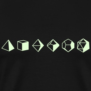 Dice Evolution d20 Dungeons & Dragons - Men's Premium T-Shirt