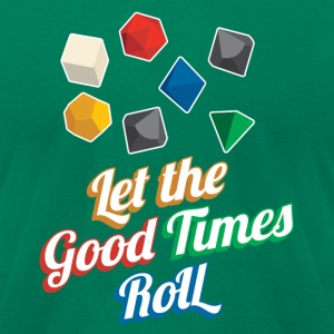 Nerd Let The Good Times Roll Dice - Men's T-Shirt by American Apparel