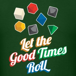 Nerd Let The Good Times Roll Dice - Men's T-Shirt