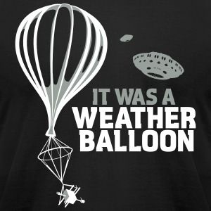 Weather Balloon UFO X-Files - Men's T-Shirt by American Apparel
