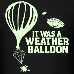 Weather Balloon GLOW UFO X-Files - Men's T-Shirt