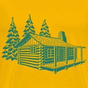 log cabin - Men's Premium T-Shirt