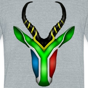 South African Springbok 2 T-Shirts - Unisex Tri-Blend T-Shirt by American Apparel