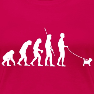 Evolution Dog Pug Shirt for Girls - Women's Premium T-Shirt
