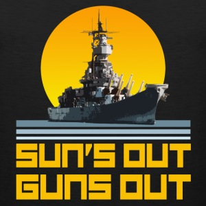 Funny - Sun's Out, Guns Out - Battleship - Men's Premium Tank