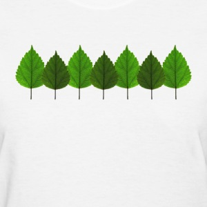 Happy Little Green Tree Leaf Forest Women's T-Shirts - Women's T-Shirt