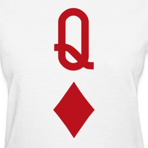 Queen of Diamonds Red Playing Card Women's T-Shirts - Women's T-Shirt