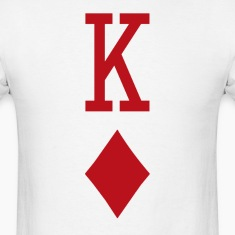 King of Diamonds Red Playing Card T-Shirts