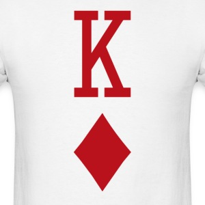King of Diamonds Red Playing Card T-Shirts - Men's T-Shirt